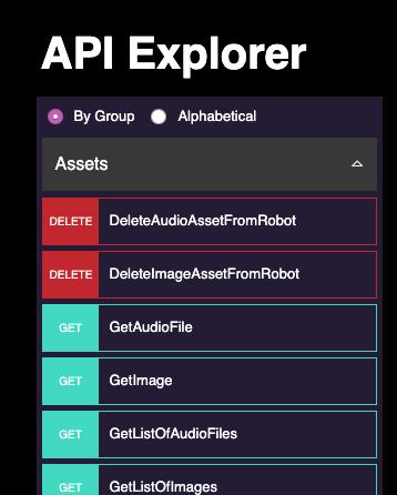 Misty Docs | API Explorer